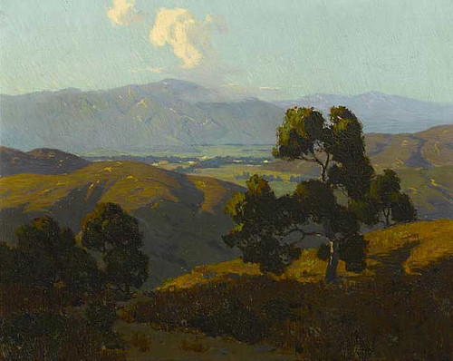 Looking West To Poway Valley By Elmer Wachtel