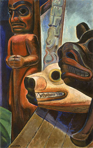 Three Totems By Emily Carr