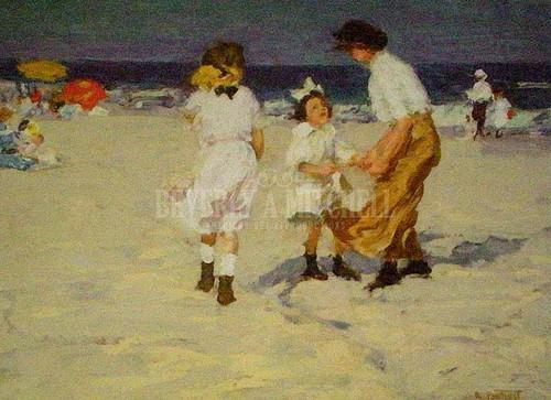 Ocean Breezes by Edward Potthast