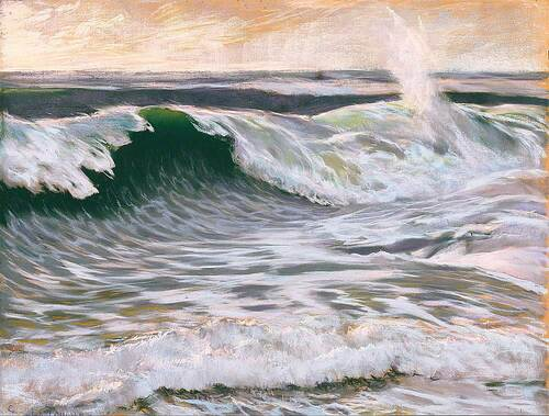La Vague De L'ocean By Gaston La Touche
