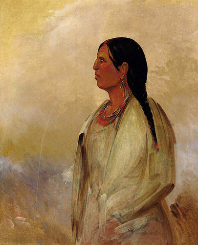 A Choctaw Woman By George Catlin