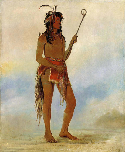 Ah No Je Nahge He Who Stands On Both Sides A Distinguished Ball Player By George Catlin
