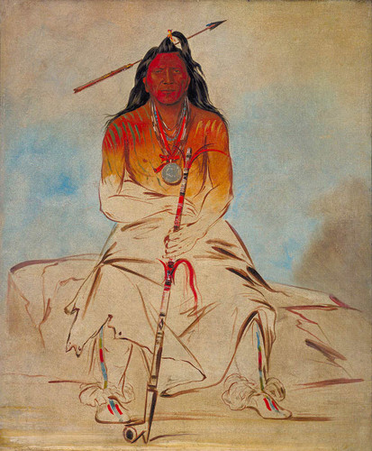Ah Shaw Wah Rooks Te Medicine Horse A Grand Pawnee Brave By George Catlin