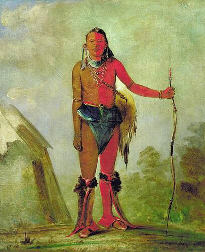 Aih No Wa The Fire A Fox Medicine Man By George Catlin