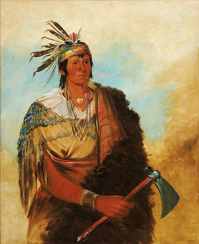 Go To Kow Pah Ah Stands By Himself A Distinguished Brave By George Catlin