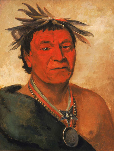 O Ho Pah Sha Small Whoop A Distinguished Warrior By George Catlin