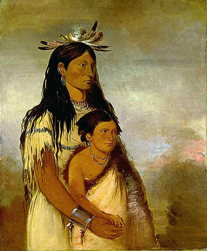 Tunk Aht Oh Ye Thunderer A Boy And Wun Pan To Mee White Weasel A Girl By George Catlin