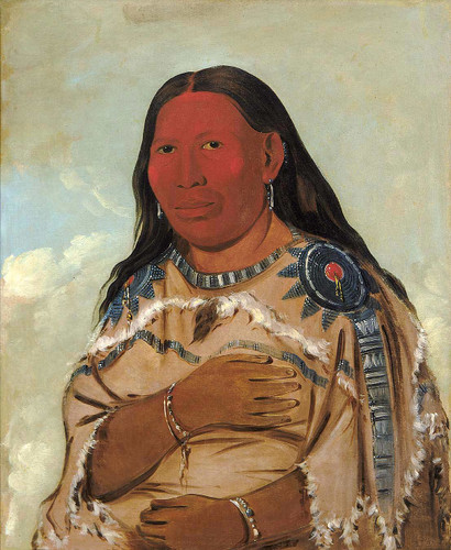 Wife Of Two Crows By George Catlin