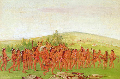 Archery Of The Mandan By George Catlin
