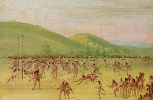 Ball Play Of The Choctaw  Ball Down By George Catlin