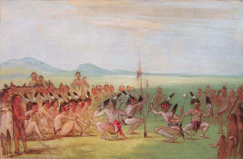Eagle Dance Choctaw By George Catlin