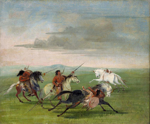 Comanche Feats Of Horsemanship By George Catlin