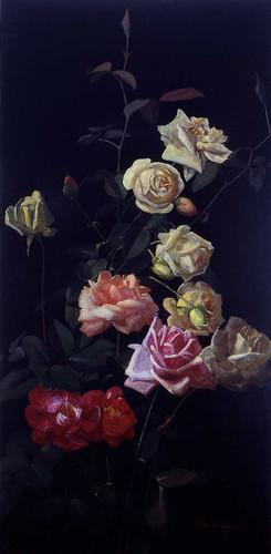 Still Life Of Roses 1 By George Cochran Lambdin