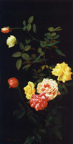 Still Life Of Roses 2 By George Cochran Lambdin