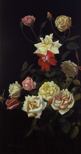 Still Life Of Roses 3 By George Cochran Lambdin