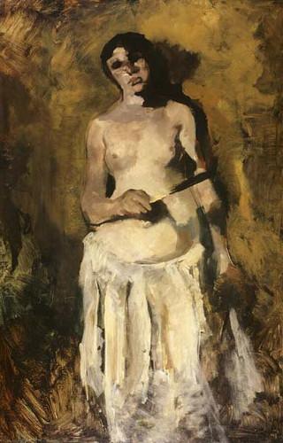 Female Half Nude By George Hendrik Breitner