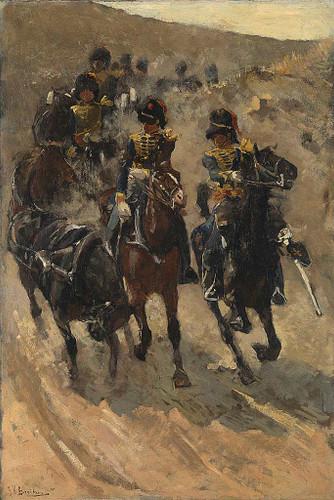 Horse Artillery By George Hendrik Breitner