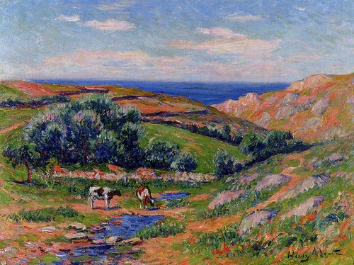 A Valley In Sadaine The Bay Of Douarnenez By Henri Moret