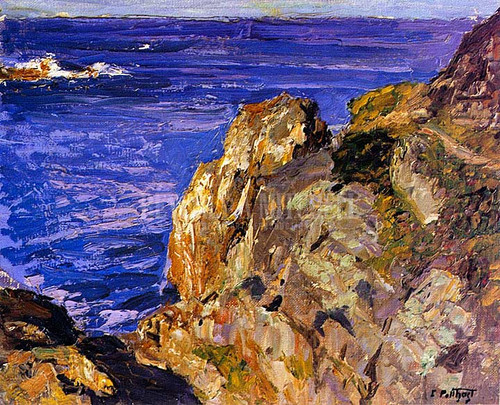 Cliff To The Ocean by Edward Potthast