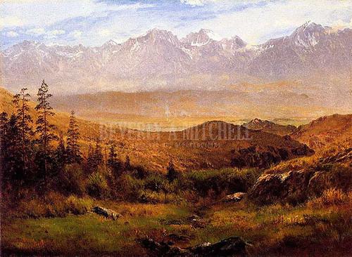 In The Foothills Of The Rockies by Albert Bierstadt