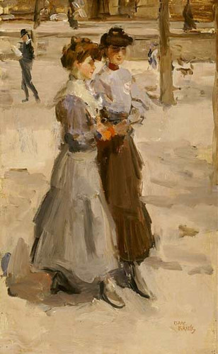 Two Girls By Isaac Israels