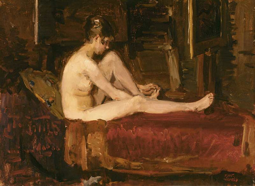Female Nude By Isaac Israels