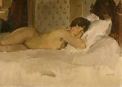 Recumbent Nude By Isaac Israels