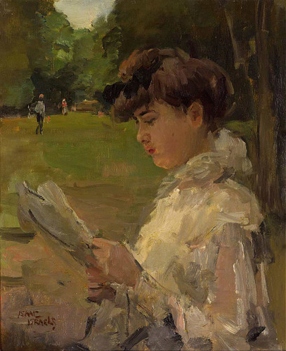 Girl Reading By Isaac Israels