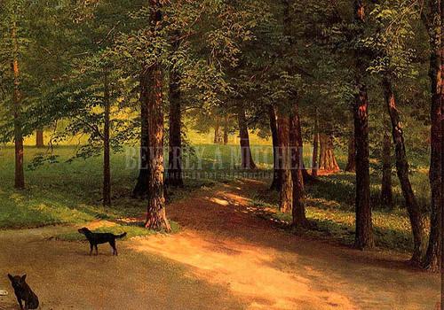 Irvington Woods by Albert Bierstadt