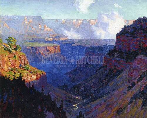 Looking Across The Grand Canyon by Edward Potthast