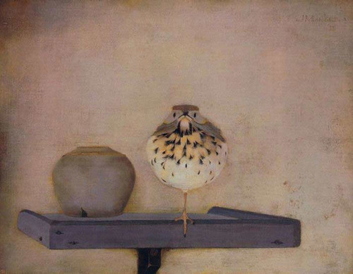 Bird On A Tray By Jan Mankes
