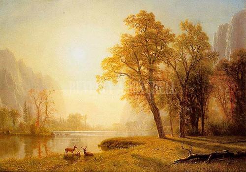 Kings River Canyoncalifornia by Albert Bierstadt