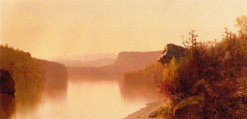Autumn Lake Scene By Jervis Mcentee