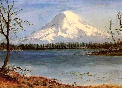 Lake In The Rockies by Albert Bierstadt