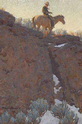 The Lone Trail By Maynard Dixon