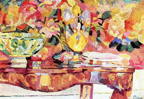 Still Life (Also Known As Still Life With Tapestry) By Patrick Henry Bruce