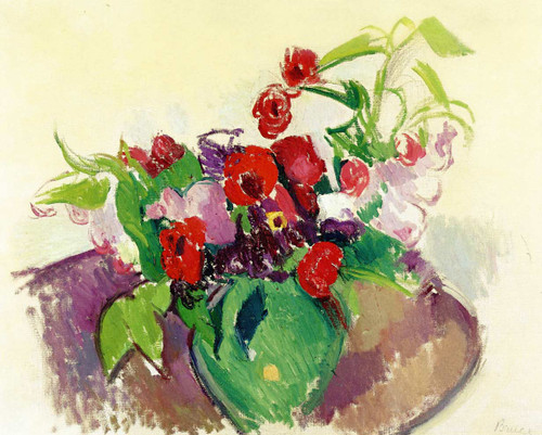 Anemones (Also Known As Bowl Of Flowers) By Patrick Henry Bruce