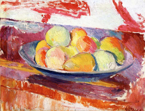 Still Life (Also Known As Still Life With Dish Of Fruit) By Patrick Henry Bruce