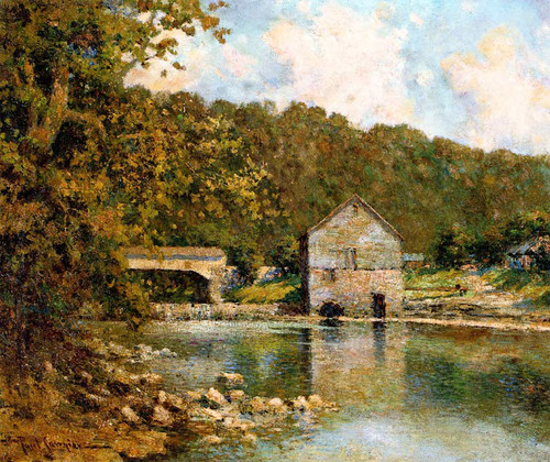 Rivermill By Paul Sawyier