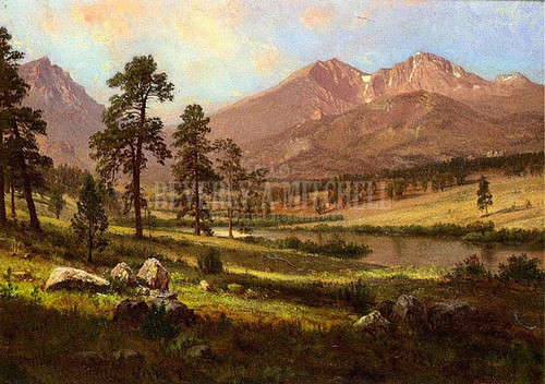 Longs Peak Estes Park Colorado by Albert Bierstadt