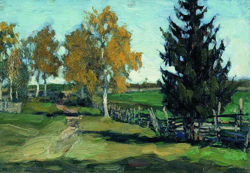 Autumn (Study) By Stanislav Zhukovsky