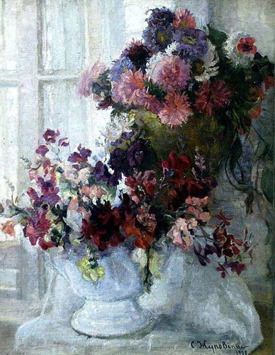Still Life With Flowers By Stanislav Zhukovsky