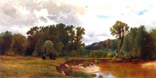 A Study From Nature Keene Valley By William M Hart