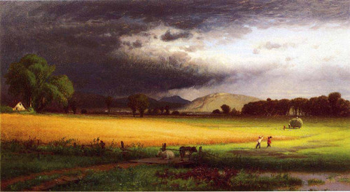 Harvest Scene   Valley Of The Delaware By William M Hart