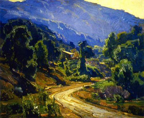 Camp In The Mountains By William Wendt
