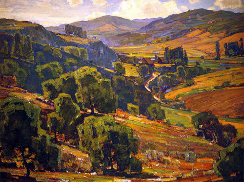 Ranch In The Valley By William Wendt