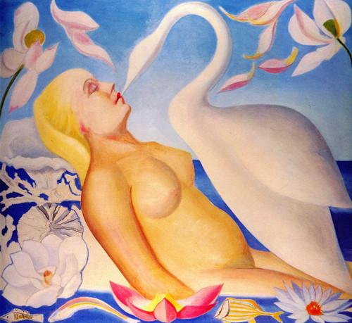 Leda And The Swan By Joseph Stella
