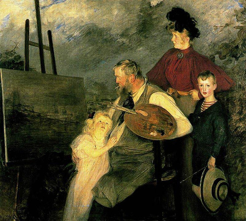 The Thaulow Family By Jacques Emile Blanche