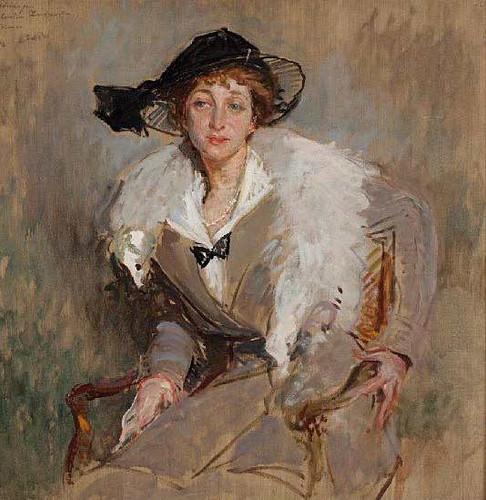 Portrait Study Of Countess Bavarowska By Jacques Emile Blanche
