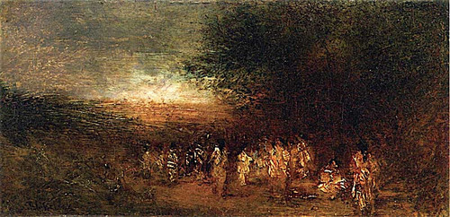Apache Indians Breaking Camp At Daybreak By Ralph Albert Blakelock